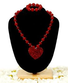 D'chica Heart Pendant Jewelry - Red