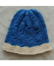 The Original Knit Cabeled Cap - Blue