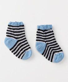 The Original Knit Striped Socks - Ice Blue