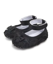 Dazzling Dolls Rosette Baby Party Shoes - Black