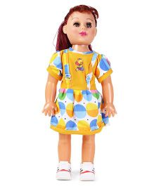 Speedage Senorita Doll With Moving Eyes Yellow Blue - 46 cm