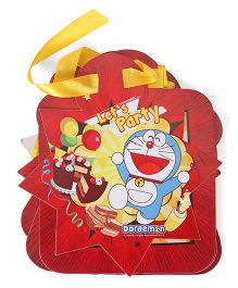 Doraemon Happy Birthday Banner - Red