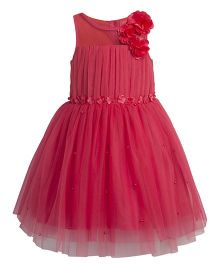 Toy Balloon Pearl Embellished Tutu Party Dress - Pink
