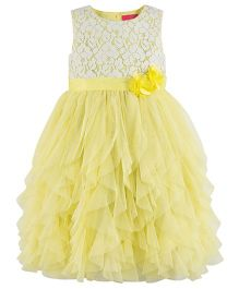 Toy Balloon Lace Party Dress - Yellow