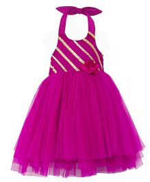 Toy Balloon Tutu Halter Party Dress - Pink