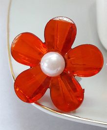 Sugarcart Floral Adjustable Finger Ring - Red