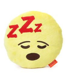 My Baby Excels Emoji Feeling Sleepy Cushion Yellow - 30 cm