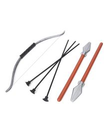 Nuage Mahabharata Bow Arrow & Spear Set - Silver & Black