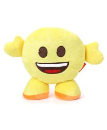My Baby Excels Standing Emoji Grinning Cushion Yellow - 30 cm