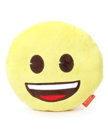 My Baby Excels Emoji Grinning Cushion Yellow - 30 cm