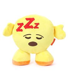 My Baby Excels Standing Emoji Feeling Sleepy Cushion Yellow - 30 cm