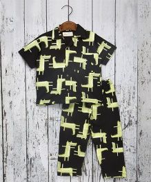 Acute Angle Crocodile Night Suit For Boys - Black