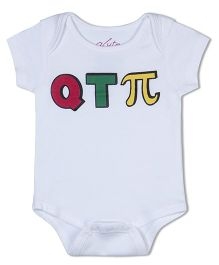 Acute Angle Qtpi Organic Cotton Baby Onesie - White