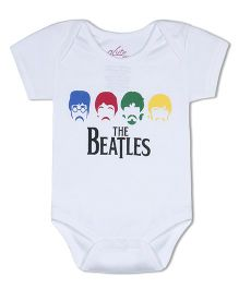 Acute Angle Beatles Organic Cotton Baby Onesie - White