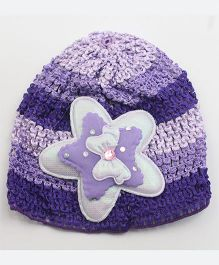 Tia Hair Accessories Star Design Winter Cap - Purple
