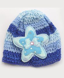 Tia Hair Accessories Star Design Winter Cap - Blue