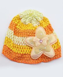 Tia Hair Accessories Star Design Winter Cap - Orange