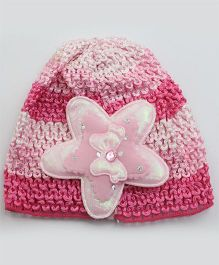 Tia Hair Accessories Star Design Winter Cap - Pink