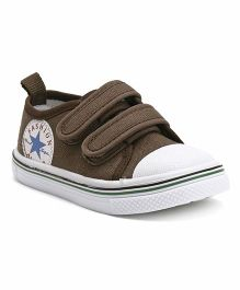 Cute Walk by Babyhug Canvas Shoes - Brown White