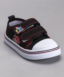 Cute Walk by Babyhug Canvas Shoes Sports Patch - Black