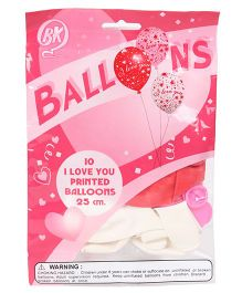 BK Printed Party Balloons 10 Pieces - Pink