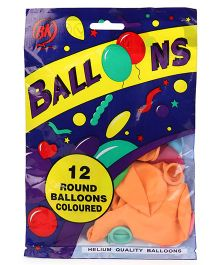BK Balloons Rubber Latex Balloons Pack of 12 - Multi Colour