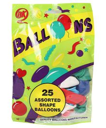 BK Balloons Assorted Balloons Pack of 25 - Multi Colour