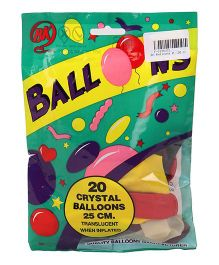 BK Balloons Crystal Balloons Pack of 20 - Multi Colour