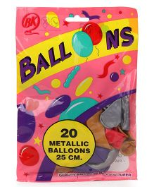 BK Balloons Metallic Balloons Pack of 20 - Multi Colour