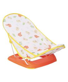 Mastela Baby Bather Sea Animals Print - Orange White