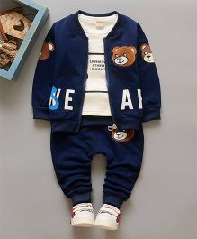 Petite Kids Tee Jacket & Pant 3 Piece Set - Blue