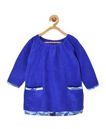Pspeaches Fleece Dress With Front Pockets - Royal Blue