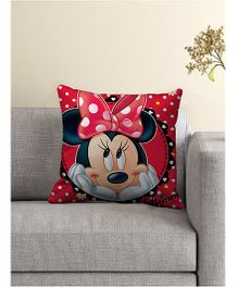 Disney Minnie Mouse Printed Cushion Cover - Red