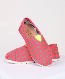 One Friday Formal Canvas Printed Shoes - Red