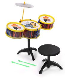 Lovely Drum Set - Yellow Black (Print May Vary)