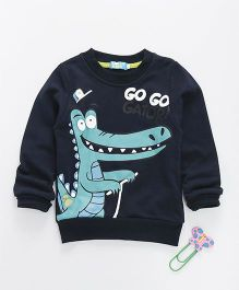 Lolly Kids Dinosaur Print Full Sleeves Tee - Navy Blue