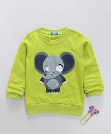 Lolly Kids Elephant Print Crew Neck Tee - Lemon Yellow