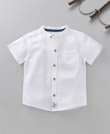 Babyoye Short Sleeves Solid Color Shirt - White