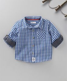Babyoye Full Sleeves Shirt Checks Print - Blue