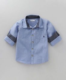 Babyoye Full Sleeves Shirt - Light Blue