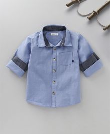 Babyoye Solid Colour Shirt - Light Blue