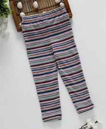 ToffyHouse Full Length Stripe Leggings - Grey Multicolour