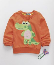 Lolly Kids Dinosaur Print Tee - Orange