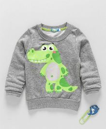 Lolly Kids Dinosaur Print Tee - Grey