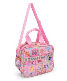 Mee Mee Diaper Bag Teddy Print - Pink