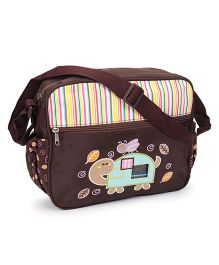 Diaper Bag Tortoise Patch - Brown