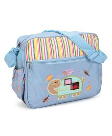 Diaper Bag Tortoise Patch - Blue