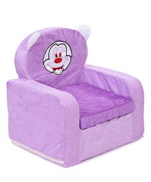 Lovely Kids Sofa Chair Mickey Mouse Embroidery - Purple