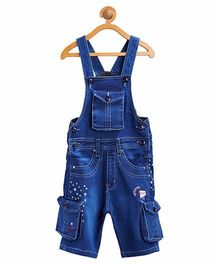 FirstClap 3/4th Dungaree - Light blue