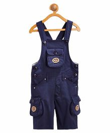 FirstClap 3/4th Dungaree - Navy Blue